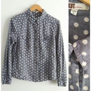 Kut from the Kloth Polka Dot Button Down Top